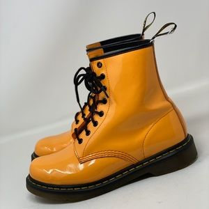 Dr. Martens Mustard Yellow Ankle Booties.